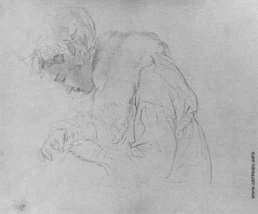 Брюллов К. П. Портрет молодой женщины за вышиванием