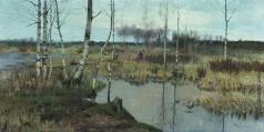 Берггольц Р. А. Весенний пейзаж