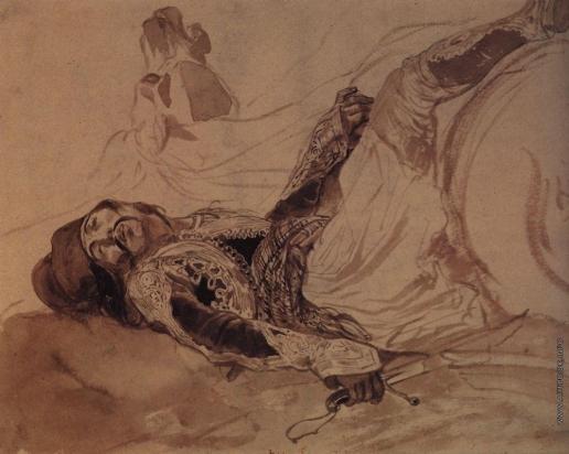 Брюллов К. П. Раненый грек, упавший с лошади