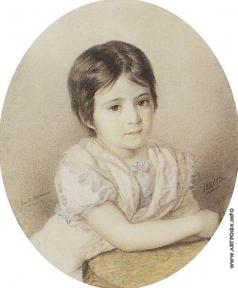Брюллов К. П. Мария Кикина в детстве
