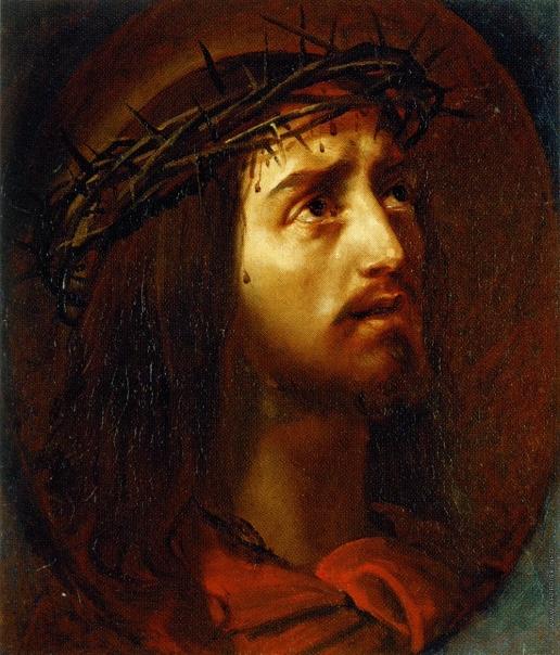 Брюллов К. П. Голова Христа в терновом венце