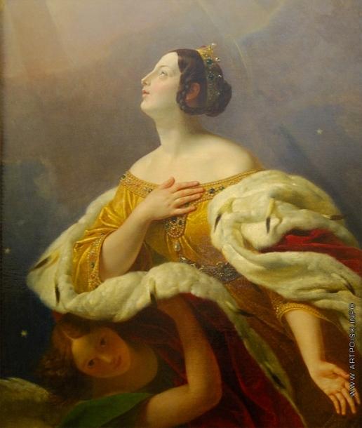 Брюллов К. П. Святая царица Александра
