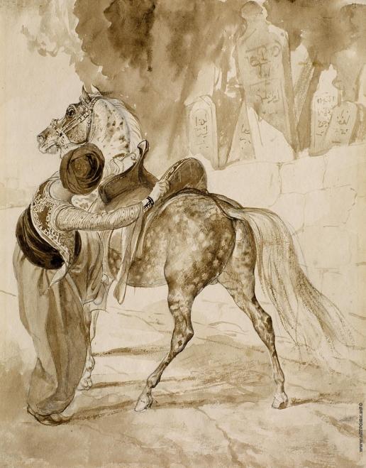 Брюллов К. П. Грек с лошадью