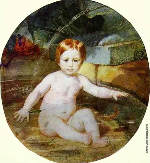 Брюллов К. П. Портрет А. Г. Гагарина (Ребёнок в бассейне)