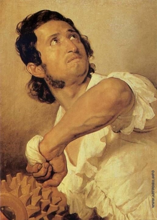 Брюллов К. П. Портрет Доменико Марини (Игрок в мяч)