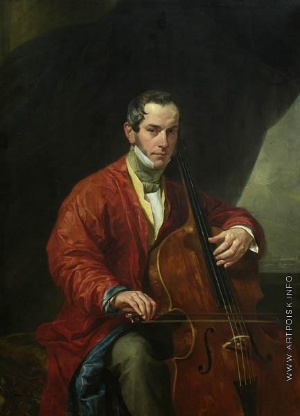 Брюллов К. П. Портрет музыканта М. Виельегорского
