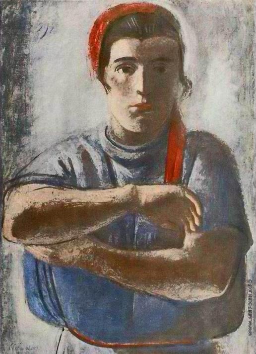 Самохвалов А. Н. Работница, засучивающая рукава (Комсомолка)
