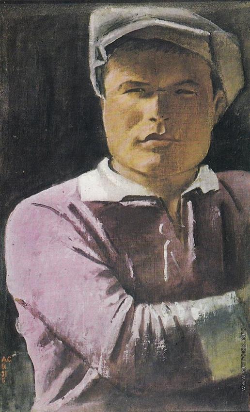 Самохвалов А. Н. Портрет партшколовца Сидорова