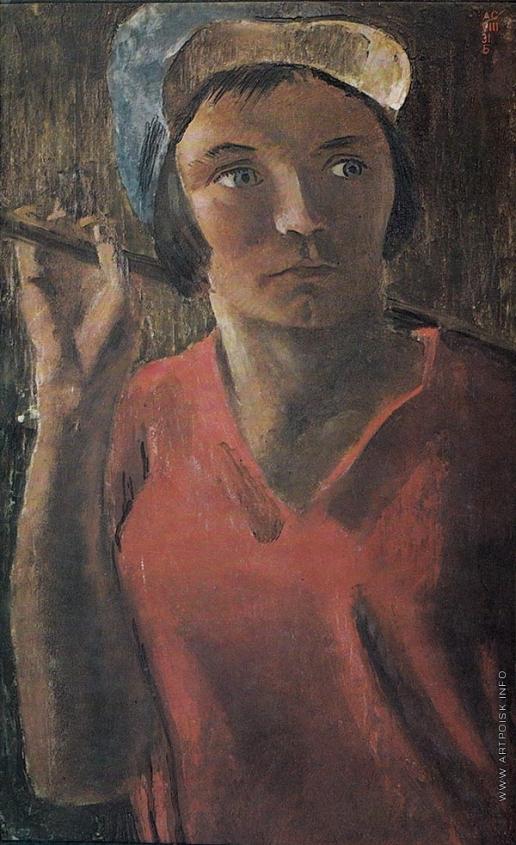 Самохвалов А. Н. Портрет полевой работницы Анны Ульяновой