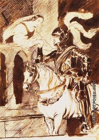 Брюллов К. П. Отъезжающий рыцарь