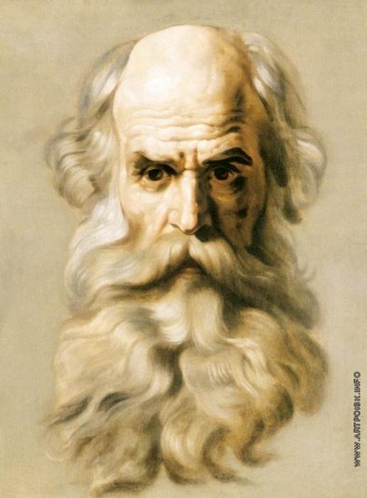 Брюллов К. П. Голова апостола. Этюд для росписи Исаакиевского собора в Петербурге