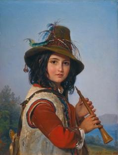 Орлов П. Н. Портет итальянского мальчика-пастуха с флейтой
