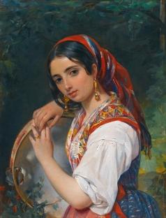 Орлов П. Н. Портет итальянскй девочки-пастушки с бубном