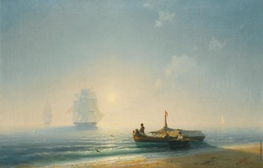 Айвазовский И. К. Рыбаки на рассвете. Неаполь
