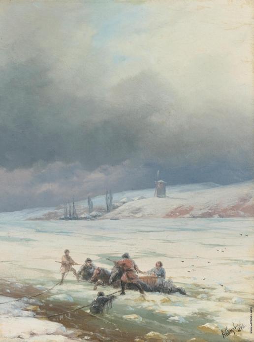 Айвазовский И. К. Спасение лошади и телеги