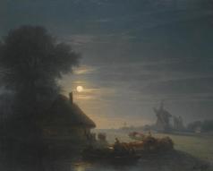 Айвазовский И. К. Украинский пейзаж ночью