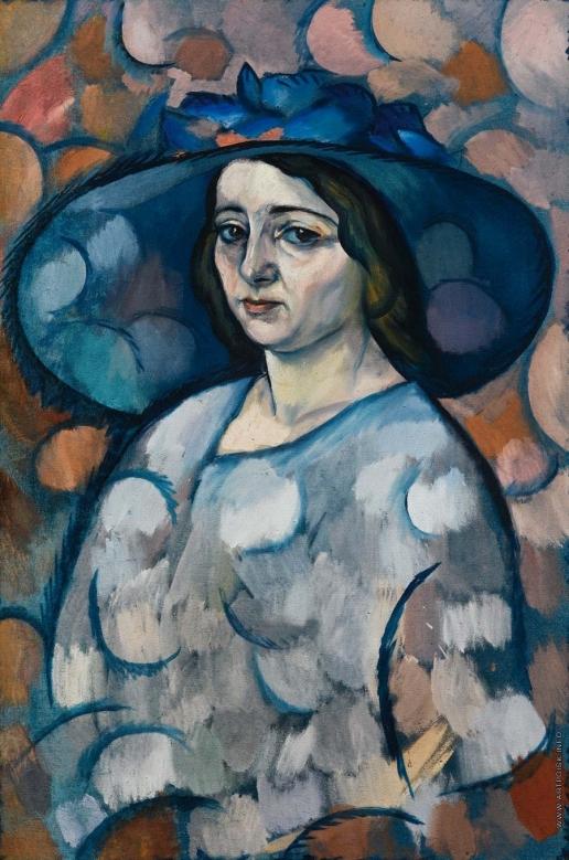Баранов-Россинэ В. Д. Дама в синей шляпе