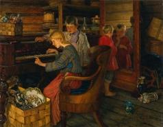 Богданов-Бельский Н. П. Дети за пианино
