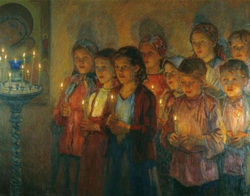 Богданов-Бельский Н. П. В церкви