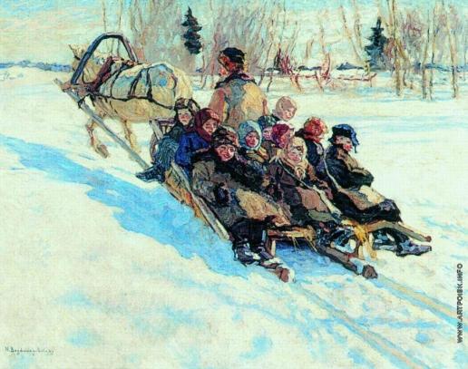 Богданов-Бельский Н. П. В школу