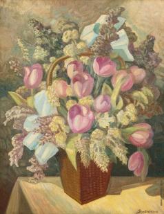 Судейкин С. Ю. Натюрморт с тюльпанами
