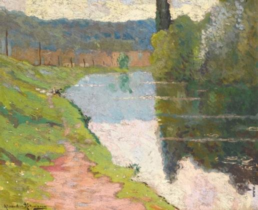 Альтман А. Пейзаж с рекой