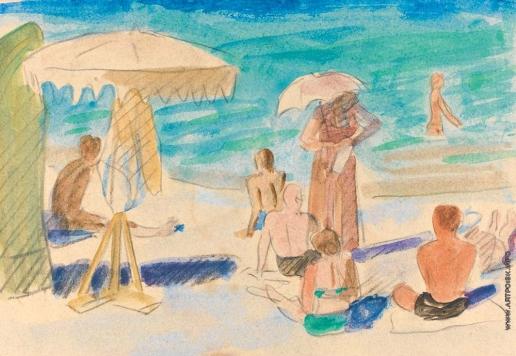 Тырса Н. А. Пляж в Сочи