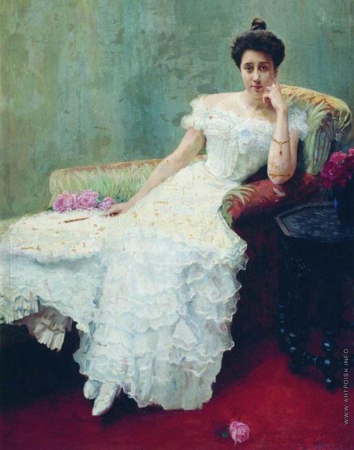 Богданов-Бельский Н. П. Дама с розами