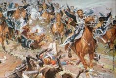 Самокиш Н. С. Атака гусар Кульнева у Клястиц 20 июля 1812 года
