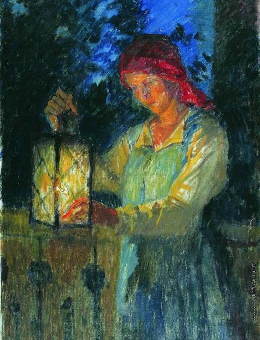 Богданов-Бельский Н. П. Девочка с фонарем