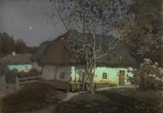 Светлицкий Г. П. Украинское село в лунную ночь