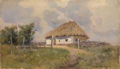 Васильковский С. И. Украинская хата на холме