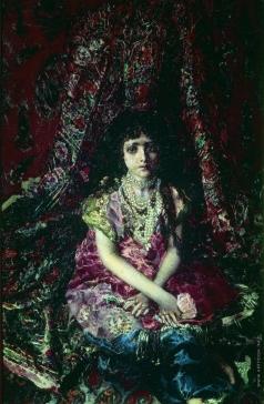 Врубель М. А. Девочка на фоне персидского ковра