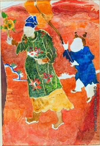 Врубель М. А. Старинная китайская парча