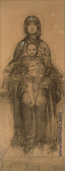 Врубель М. А. Богоматерь с Младенцем
