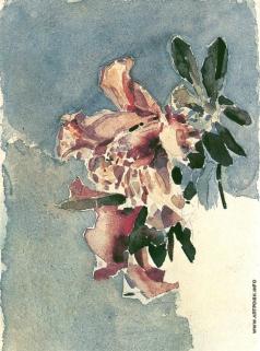 Врубель М. А. Красная азалия. Два цветка