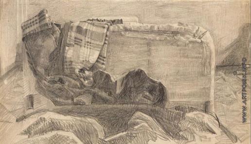 Врубель М. А. Клетчатый халат и кровать