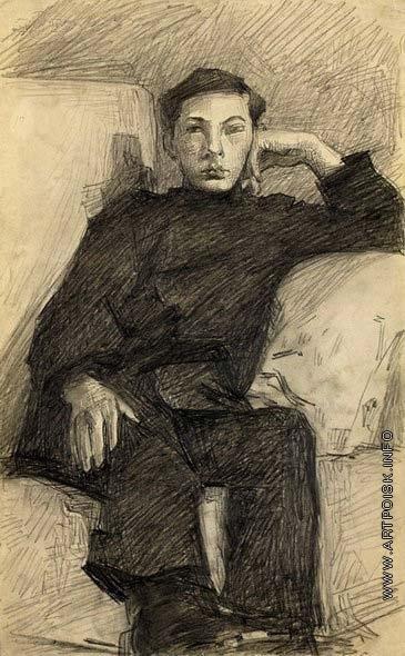 Врубель М. А. Портрет молодого человека