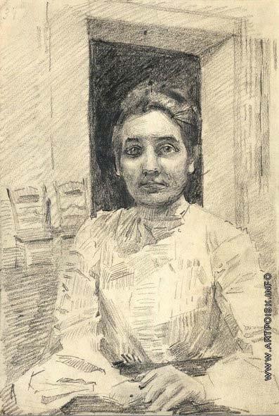 Врубель М. А. Женский портрет (Надзирательница отделения клиники Московского университета)