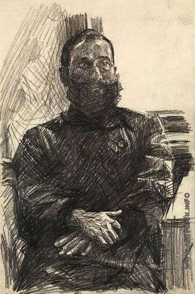 Врубель М. А. Портрет мужчины со сложенными руками