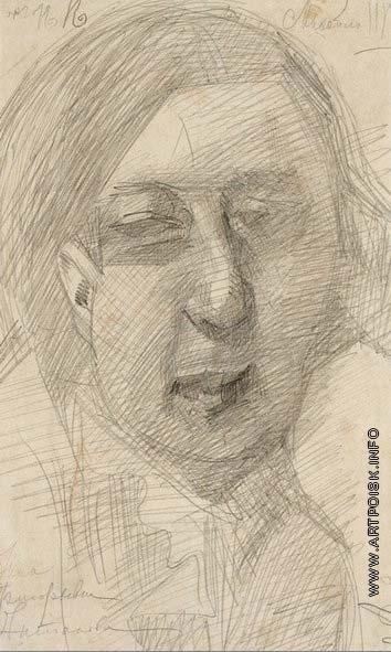 Врубель М. А. Женский портрет (Н.Г.Антонова)
