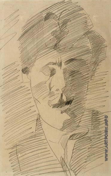 Врубель М. А. Мужской портрет (Голова молодого мужчины)