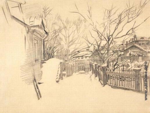Врубель М. А. Дворик зимой