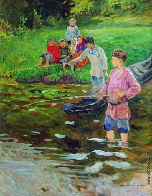 Богданов-Бельский Н. П. Дети-рыбаки