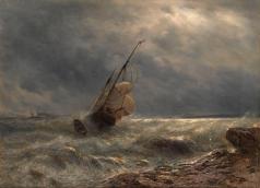 Лагорио Л. Ф. Корабль в бурю