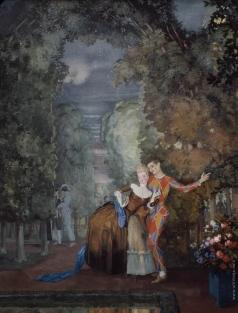 Сомов К. А. Арлекин и дама
