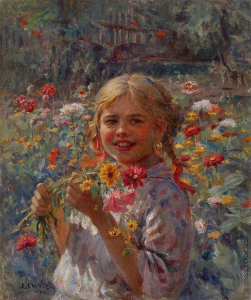 Сычков Ф. В. Девушка в саду