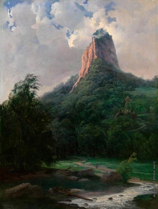 Нисченков А. Н. Горный пейзаж в Дагестане