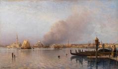 Боголюбов А. П. Вид на венецианскую лагуну от общественного парка