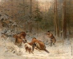 Тихменев Е. А. Охота на медведя